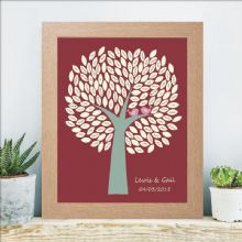 A3 Wedding Birds Signature Tree - Personalised Wedding Keepsake - Unique Guest Book Alternative
